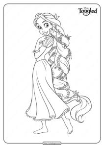 Free Printable Tangled Coloring Pages for Girls