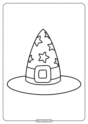 Free Printable Witch's Hat Coloring Pages