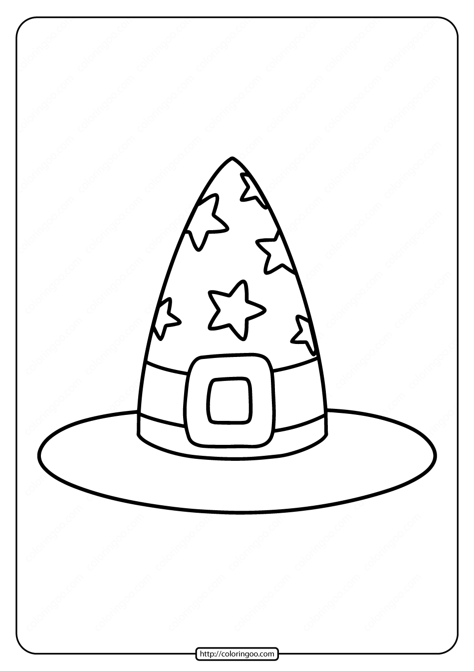 Free Printable Witch S Hat Coloring Pages