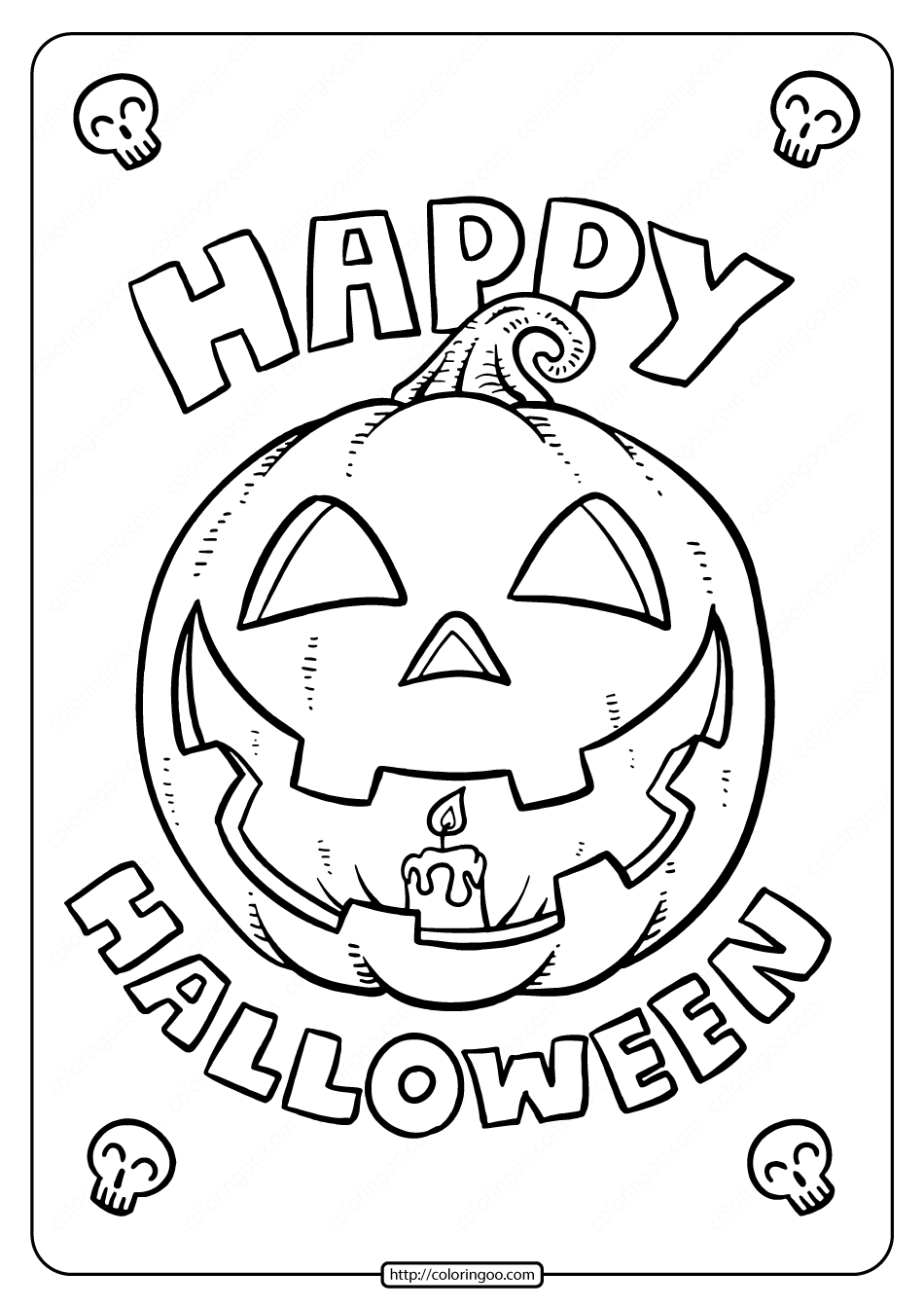 Happy Halloween Coloring Pages