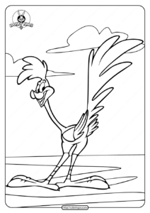 Looney Tunes Road Runner Coloring Page