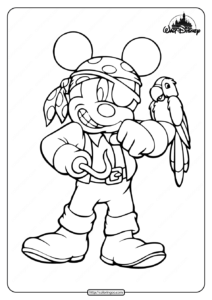 Lovely Pirate Mickey Mouse Coloring Pages