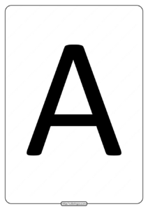 Printable A4 Size Uppercase Letters A Worksheet