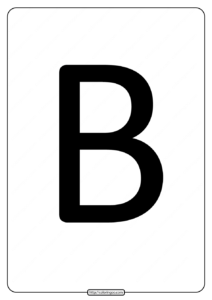 Printable A4 Size Uppercase Letters B Worksheet