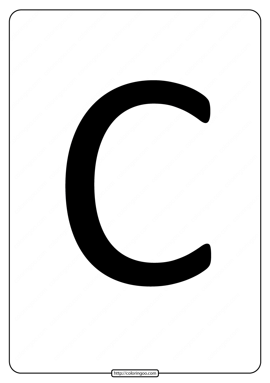 Printable A4 Size Uppercase Letters C Worksheet