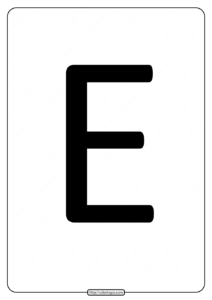 Printable A4 Size Uppercase Letters E Worksheet