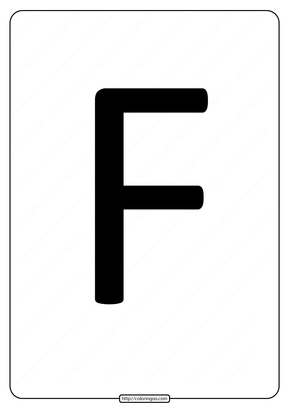 Printable A4 Size Uppercase Letters F Worksheet