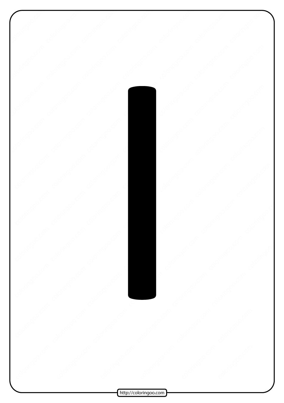 Printable A4 Size Uppercase Letters I Worksheet