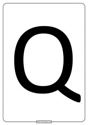 Printable A4 Size Uppercase Letters Q Worksheet