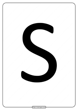 Printable A4 Size Uppercase Letters S Worksheet
