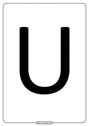 Printable A4 Size Uppercase Letters U Worksheet