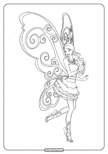 Printable Barbie Fairy Secret Coloring Pages 02