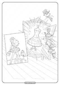 Printable Barbie Fashion Fairytale Coloring Pages 02