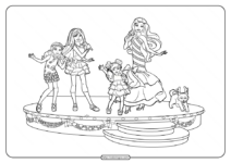 Printable Barbie Perfect Christmas Coloring Pages 01