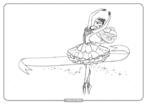 Printable Barbie Pink Shoes Coloring Pages 01