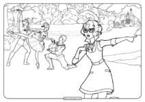 Printable Barbie Pink Shoes Coloring Pages 02