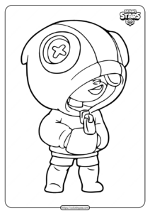 Brawl Stars Leon Default Skin Coloring Pages