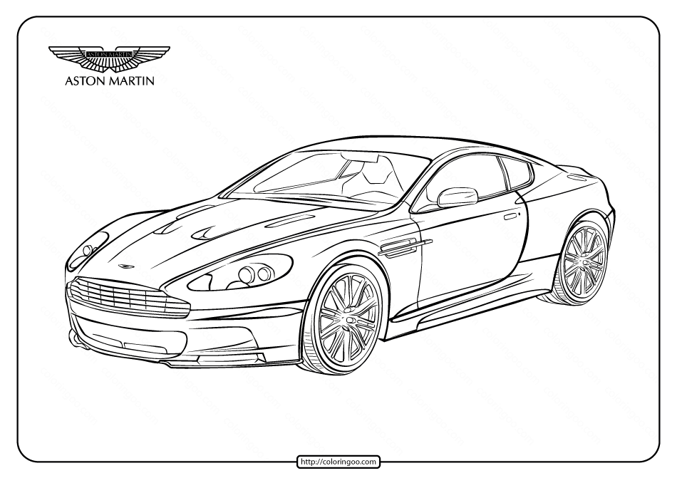 Printable Cars Aston Martin DBS Coloring Pages
