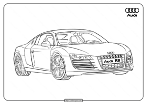 Printable Cars Audi R8 Coloring Pages
