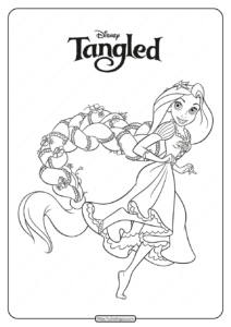 Printable Disney Princess Rapunzel Coloring Pages