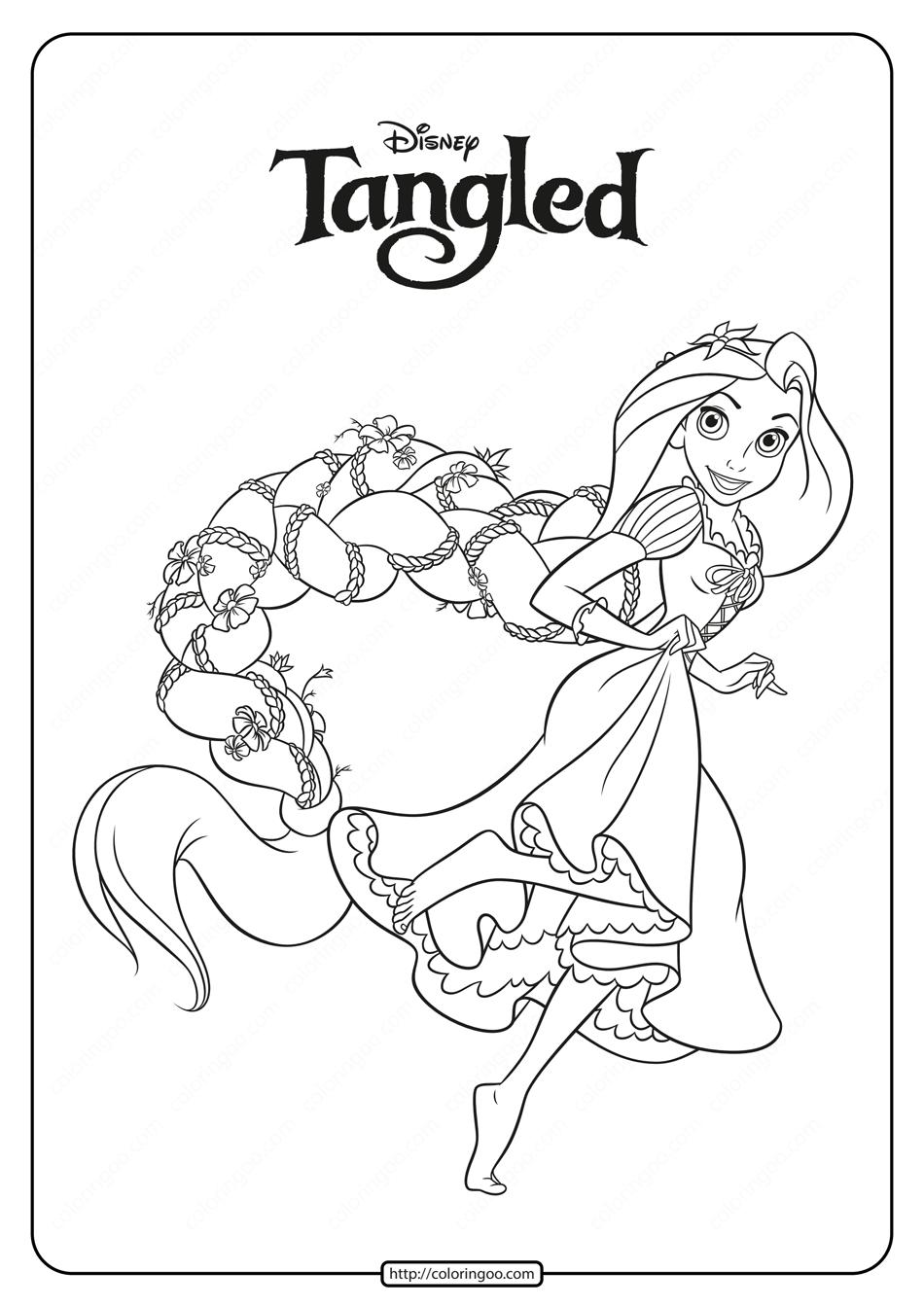 Printable Disney Princess Rapunzel Coloring Pages