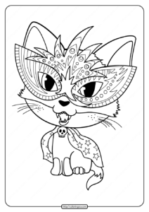 Printable Halloween Cat Coloring Pages