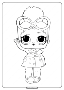 Printable LOL Surprise Boss Queen Coloring Pages