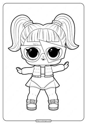 Printable LOL Surprise Glamstronaut Coloring Pages