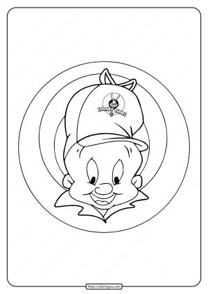 Printable Looney Tunes Elmer Fudd Coloring Page