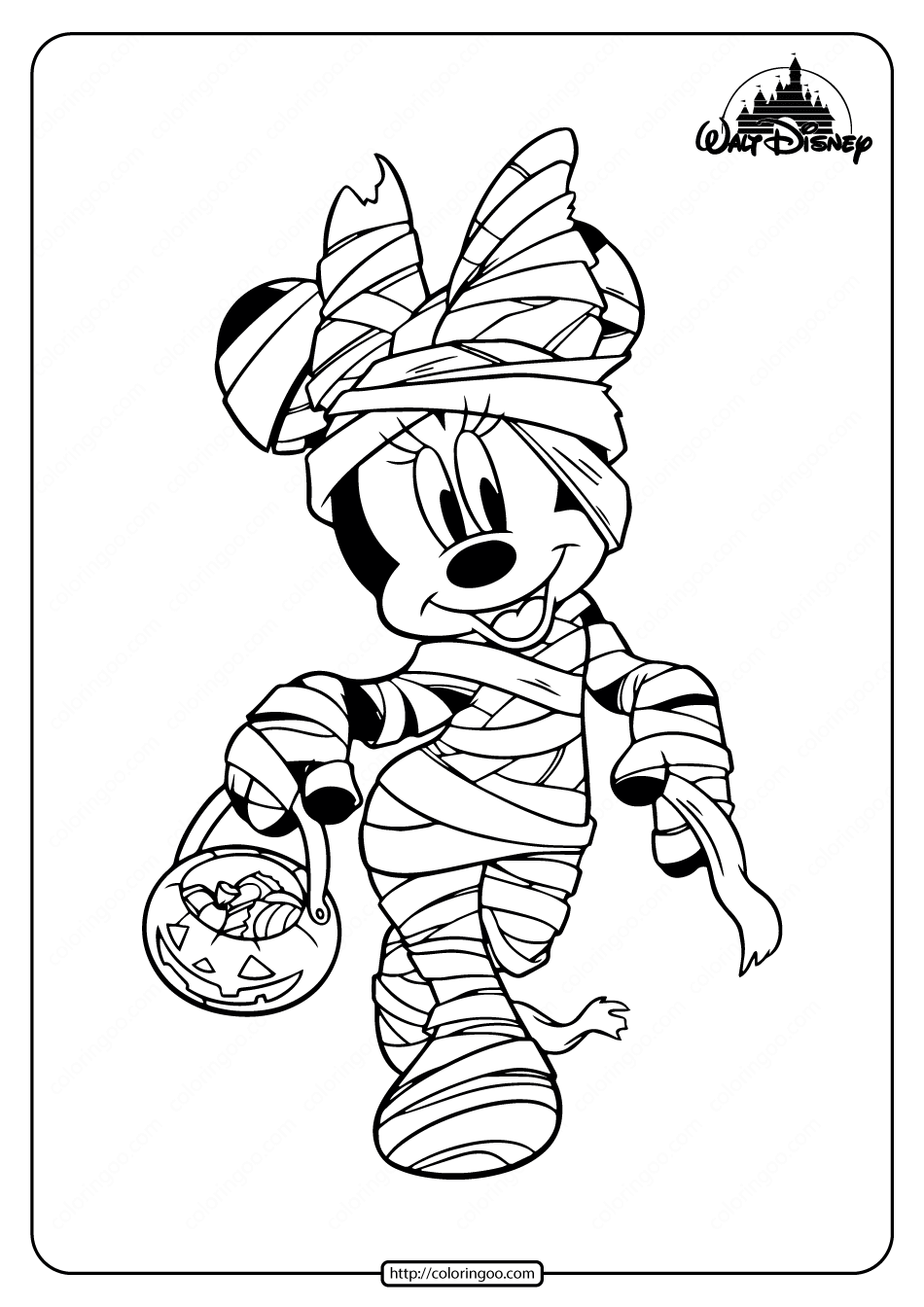 Printables Minnie Mouse Halloween Coloring Pages