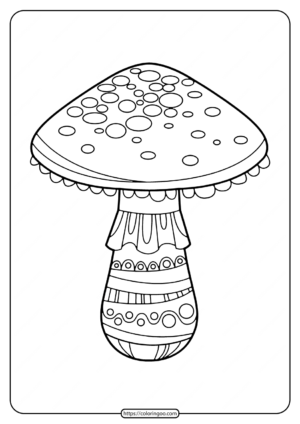 Printable Mushroom Coloring Pages for Kids