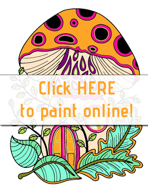 Printable Mushroom House Coloring Pages