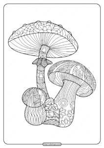 Printable Mushroom Pdf Coloring Pages
