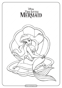 Printable Princess Ariel Coloring Pages