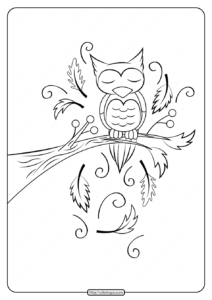 Printable Sleeping Owl Coloring Pages
