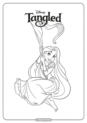 Printable Tangled Rapunzel Pdf Coloring Pages