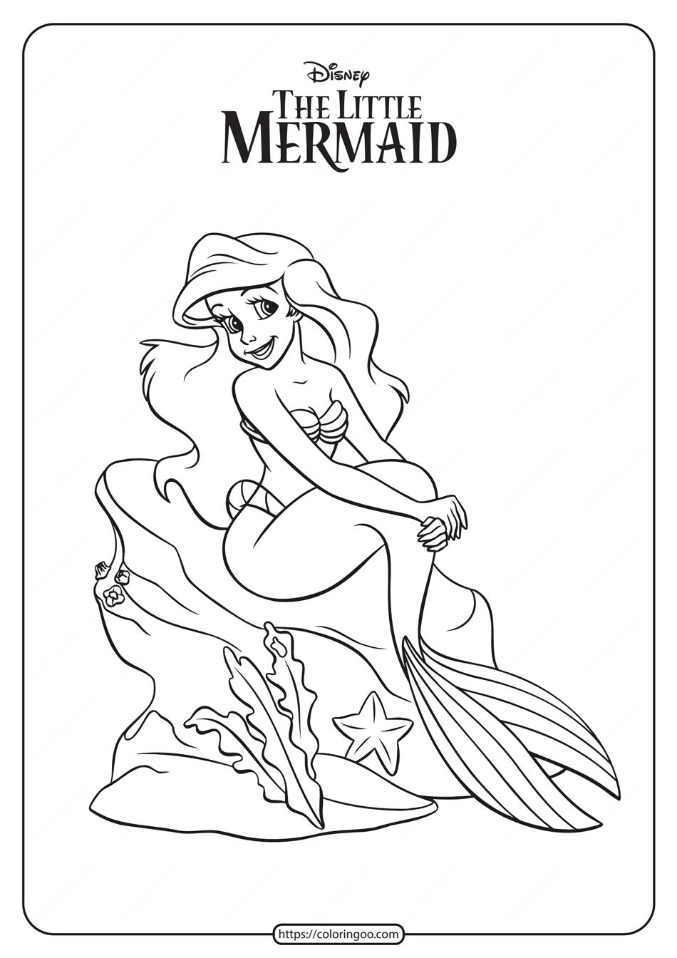 Printable The Little Mermaid Princess Ariel Coloring