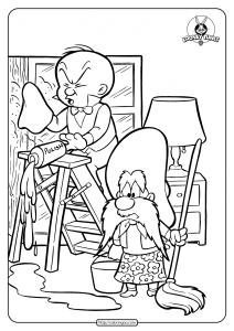 Printable Yosemite Sam Coloring Page