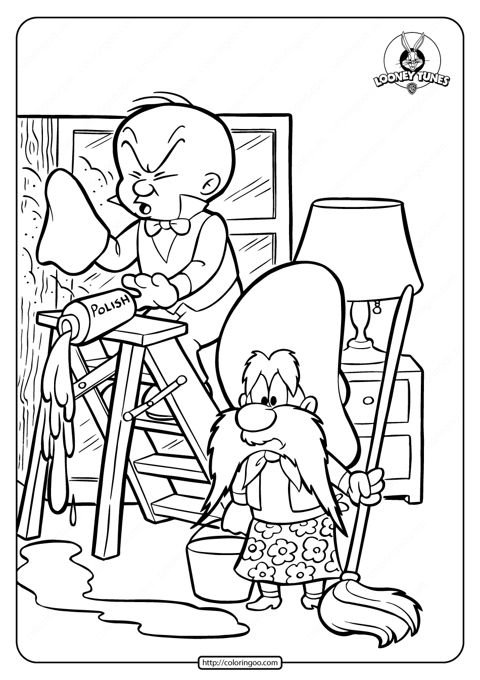 Printable Yosemite Sam Coloring Page
