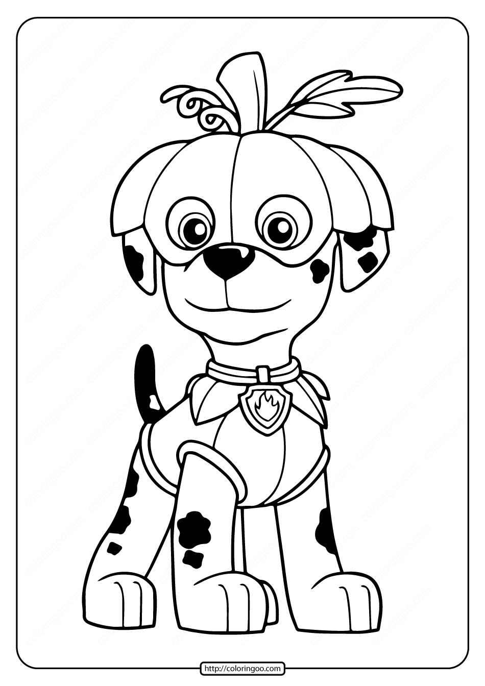 Printables Marshall Coloring Pages
