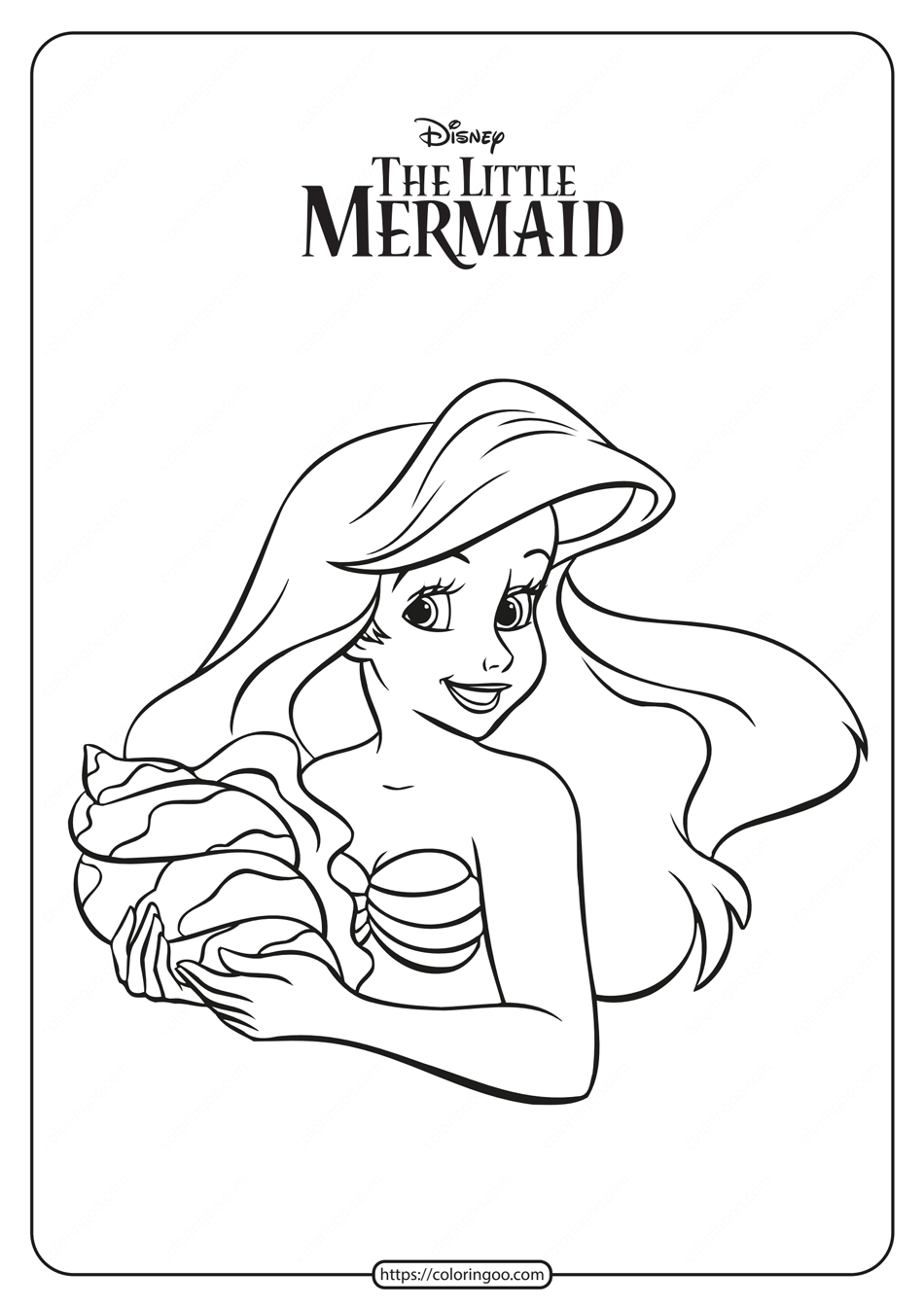 The Little Mermaid Ariel Coloring Pages