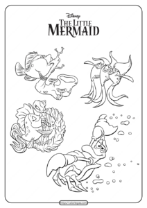 The Little Mermaid Underwater Orchestra Coloring Pages
