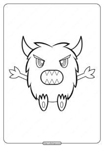Adorable Horned Monster Coloring Pages