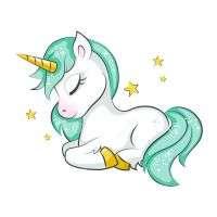 Beautiful Unicorn Sleeping Coloring Page