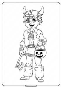 Boy in Viking Costume Coloring Pages