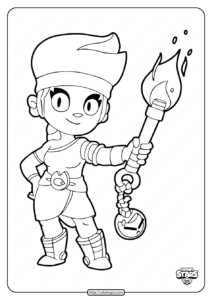 Brawl Stars Amber Coloring Pages