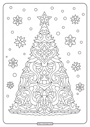 Christmas Tree Adult Coloring Pages