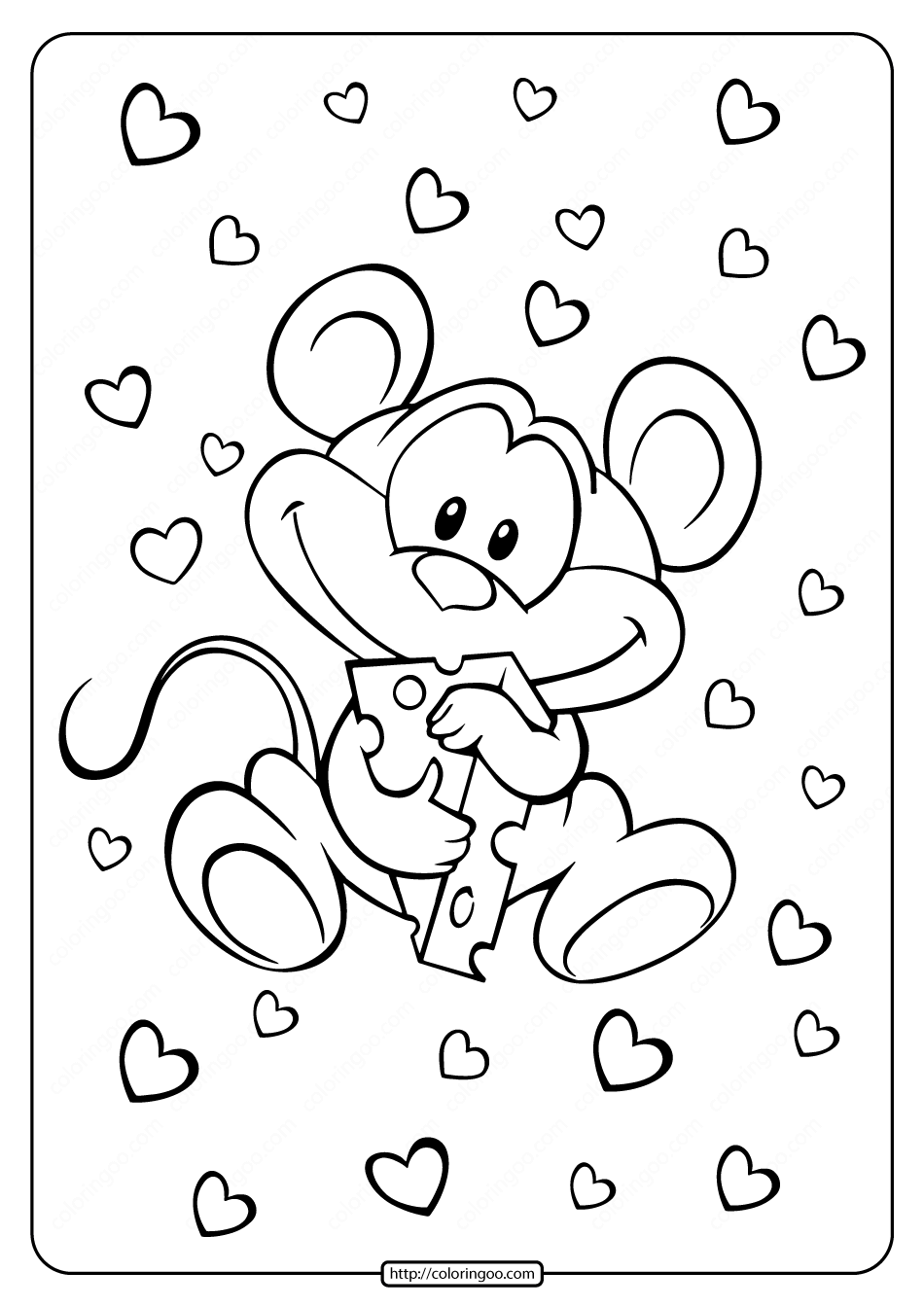 Cute Little Mouse Coloring Pages
