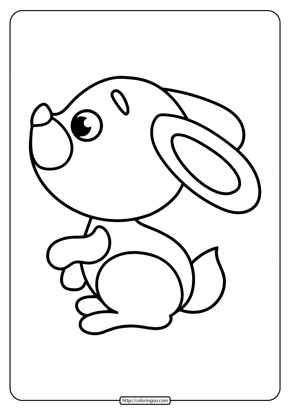 Cute Little Rabbit Coloring Pages