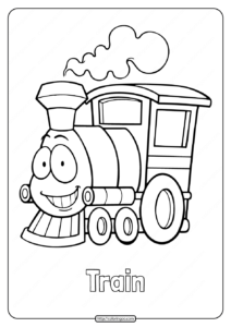 Cute Train Coloring Pages for Kids